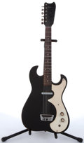 Musical Instruments:Electric Guitars, 1960s Silvertone 1448 Black Electric Guitar With Amp Case #185.10010.. ...