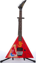 Musical Instruments:Electric Guitars, Kramer Gorky Park Balalaika Red Electric Guitar #AC2260...