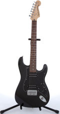 Musical Instruments:Electric Guitars, 2000 Squier By Fender Stratocaster VII Black 7-String Electric Guitar # IC00088321....