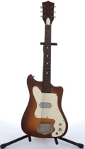 Musical Instruments:Electric Guitars, Vintage Kay Vanguard Sunburst Electric Guitar # N/A....