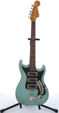 Musical Instruments:Electric Guitars, 1960's Hagstrom III Blue Electric Guitar #642086....