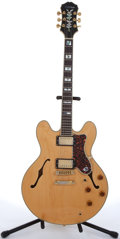 Musical Instruments:Electric Guitars, 1979 Epiphone Sheraton Natural Semi-Hollow Body Electric Guitar#S9202270....