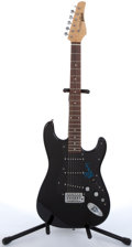 Musical Instruments:Electric Guitars, 2002 Focus By Kramer 111-S Black Electric Guitar #SJ02100725....