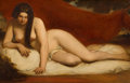 Fine Art - Painting, European:Antique  (Pre 1900), FROM THE ESTATE OF KENNETH KENDALL, LOS ANGELES, CALIFORNIA.WILLIAM ETTY (British, 1787-1849). Reclining Nude. Oil on...(Total: 2 Items)