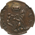 Colonials, (1670-75) FARTH St. Patrick Farthing XF45 NGC. W-11500....