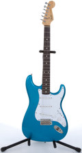 Musical Instruments:Electric Guitars, 1987 Fender MIJ Stratocaster Electric Blue Solid Body ElectricGuitar #E747474...