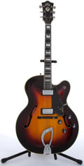 Musical Instruments:Electric Guitars, 1967 Guild X-500 Special Sunburst Archtop Electric Guitar#DA-140....