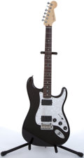 Musical Instruments:Electric Guitars, 2006 Fender American Stratocaster Deluxe 60th Anniversary SeriesBlack Sparkle Electric Guitar #DZ6099464....