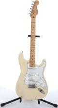 Musical Instruments:Electric Guitars, 1984 Fender American Stratocaster Olympic White Electric Guitar#E402176....
