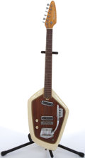 Musical Instruments:Electric Guitars, 1960's Domino Californian White Electric Guitar # N/A....