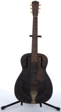 Musical Instruments:Resonator Guitars, Vintage National Black Resonator Guitar #5110....