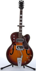 Musical Instruments:Electric Guitars, Bruno Royal Artist Sunburst Archtop Electric Guitar #6977....