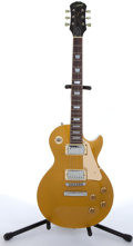 Musical Instruments:Electric Guitars, 1997 Epiphone By Gibson Les Paul Gold Top Electric Guitar#U97110061....