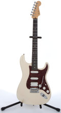 Musical Instruments:Electric Guitars, 2006 Fender Stratocaster Amer. Deluxe Cream Sparkle Electric Guitar#DZ6289278....