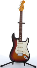 Musical Instruments:Electric Guitars, 1982 Fender American Stratocaster 62 Relic Sunburst Electric Guitar#V009189....