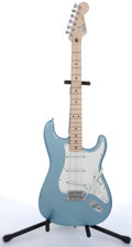 Musical Instruments:Electric Guitars, 2006 Fender Stratocaster Blue Electric Guitar #MZ5106434....