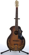 Musical Instruments:Acoustic Guitars, 1933 Kay Kraft Venetian Sunburst Arch Acoustic Guitar # N/A....