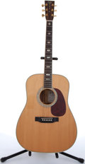Musical Instruments:Acoustic Guitars, 1996 Martin D-40 FW Ltd Ed Natural Acoustic Guitar #571784....