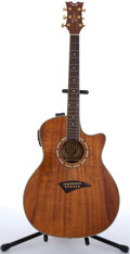 Musical Instruments:Acoustic Guitars, Dean EKOA Exotica Cutaway Electric Acoustic Guitar #SW093461....
