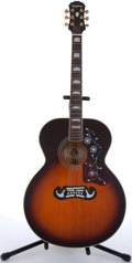 Musical Instruments:Acoustic Guitars, 1994 Epiphone By Gibson EJ-200VS Sunburst Acoustic Guitar #594110080....