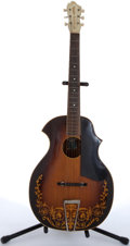 Musical Instruments:Acoustic Guitars, 1930's Kay Kraft Sunburst Arch Acoustic Guitar # N/A....