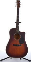 Musical Instruments:Acoustic Guitars, 1980's Sigma By Martin DM-4CV Sunburst Cutaway Acoustic Guitar #280520....