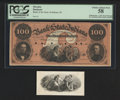 Obsoletes By State:Indiana, Unknown, IN- Bank of the State of Indiana $100 July 1, 1857 G298a Proof. ... (Total: 2 items)