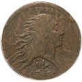 Large Cents, 1793 1C Wreath Cent, Vine and Bars Fine 15 PCGS. S-8, B-13, R.3....