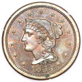 Proof Large Cents, 1855 1C PR64 Red and Brown PCGS. N-10, R.5....