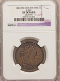 Large Cents: , 1803 1C Small Date, Small Fraction--Graffiti--NGC Details. XF.S-253. NGC Census: (26/172). PCGS Population (36/125). Mint...