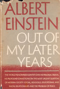 Books:First Editions, Albert Einstein. Out of My Later Years. ...