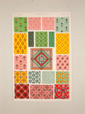 Antiques:Posters & Prints, Owen Jones. Three Color Plates on Persian Ornamentation from The Grammar of Ornament.... (Total: 3 Items)