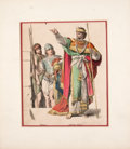 Antiques:Posters & Prints, Two German Hand-Colored Plates of Royal Costumes... (Total: 2Items)