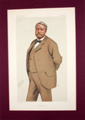 """Antiques:Posters & Prints, Two Chromolithographic portraits in Vanity Fair Magazine:""""Westmorland"""" and """"French fiction"""".... (Total: 2 Items)"""