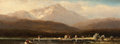 Fine Art - Painting, European:Antique  (Pre 1900), HUGO ULLIK (Austrian, 1838-1881). Scenic Views of LakeAmmersee (2). Oil on board. 4 x 10 inches (10.2 x 25.4 cm)each. ... (Total: 2 Items)