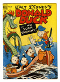 Golden Age (1938-1955):Cartoon Character, Four Color #318 Donald Duck (#1) (Dell, 1951) Condition: VG/FN....