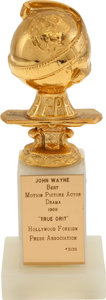 John Wayne Golden Globe Award