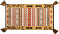 Movie/TV Memorabilia:Memorabilia, A Personalized Navajo Rug, 1960s.. ...