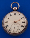 Timepieces:Pocket (pre 1900) , J. Moncas Liverpool Running Sterling Case Lever Fusee Pocket Watch....