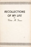 Books:Signed Editions, Victor H. Semos. Signed by author's children. Recollections of My Life....