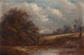 19th Century European:Barbizon, JOSEPH THORS (British, 1823-1923). View Near St. Ives,England. Oil on canvas. 8 x 12 inches (20.3 x 30.5 cm). Signedlo...