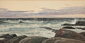 American:Marine, WILLIAM WILSON COWELL (American, 1819-1898). Morning Glow.Gouache on paper. 12-1/2 x 24-1/2 inches (31.8 x 62.2 cm). Si...