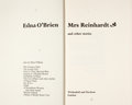 Books:First Editions, Edna O'Brien. Signed. Mrs. Reinhardt and Other Stories. ...
