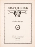 Books:First Editions, Mark Twain. Death-Disk. ...