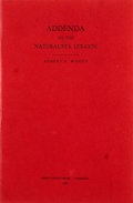 Books:First Editions, Robert S. Woods. The Naturalist's Lexicon. ...