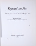Books:First Editions, Kenneth Varty. Reynard the Fox. A Study of the Fox inMedieval English Art....