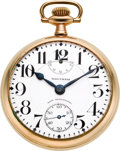 Timepieces:Pocket (post 1900), Waltham 23 Jewel Non-Magnetic Vanguard Up/Down Indicator, circa1914. ...