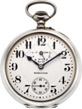 Timepieces:Pocket (post 1900), Hamilton M#36 Rare Sterling Cased Wind Indicator, circa 1915. ...