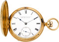 Timepieces:Pocket (pre 1900) , E. Howard & Co. Boston 18k Gold Series IV Key Wind, circa 1868....