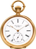 Timepieces:Pocket (post 1900), Jules Jurgensen High Jeweled 18k Gold Bow Set Pocket Watch, circa 1916. ...